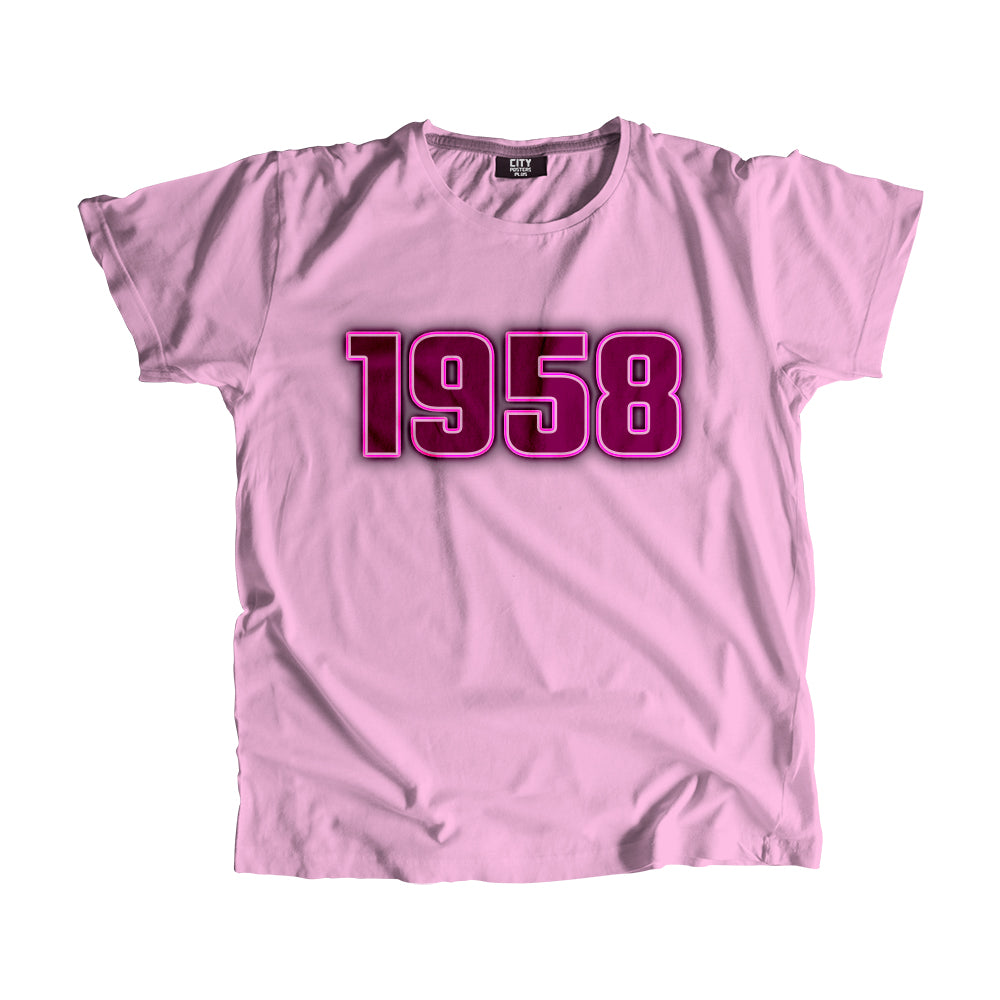 1958 Year Men Women Unisex T-Shirt