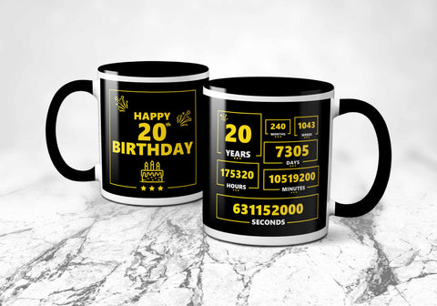 20th Years Birthday Mug