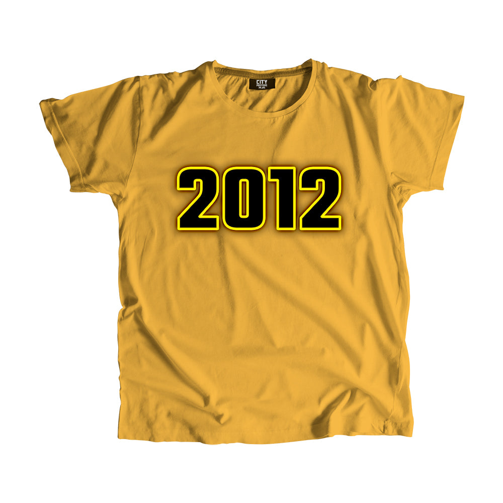 2012 Year Men Women T-Shirt