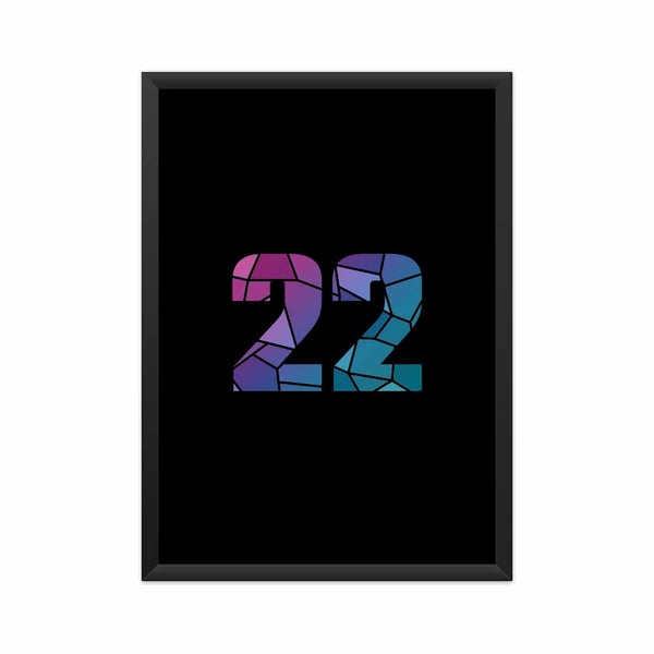 22 Number Framed Poster