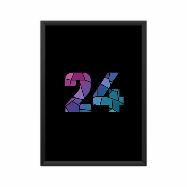 24 Number Framed Poster