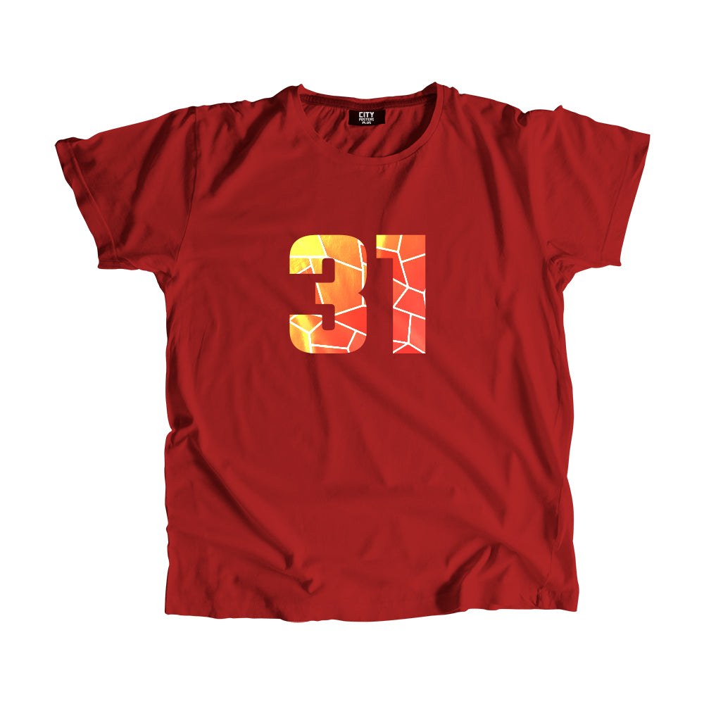 31 Number Men Women Unisex T-Shirt