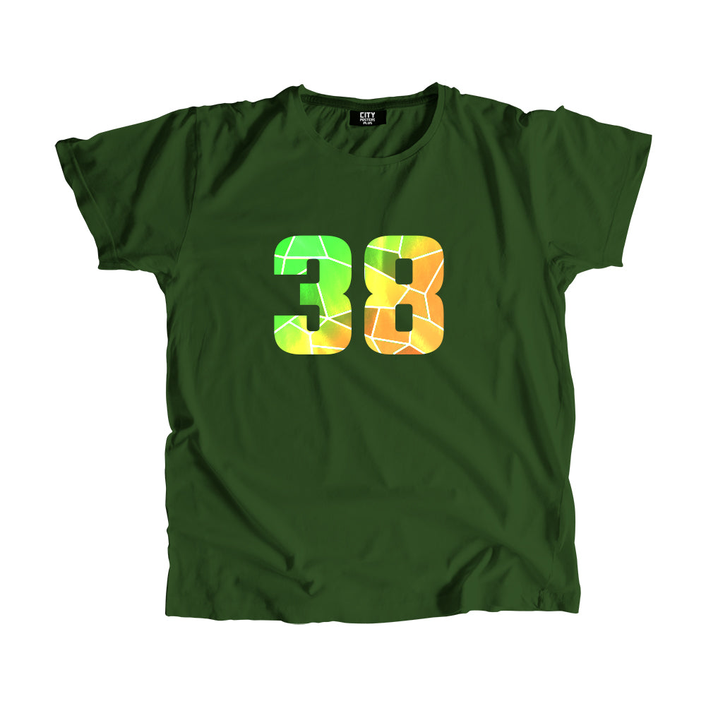 38 Number Men Women Unisex T-Shirt