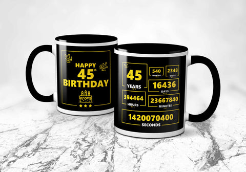 45th Years Birthday Mug