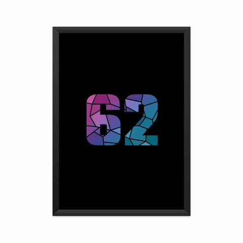 62 Number Framed Poster