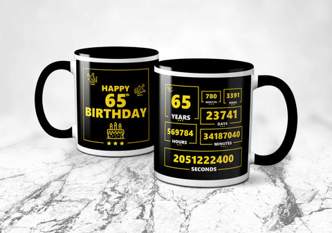 65th Years Birthday Mug