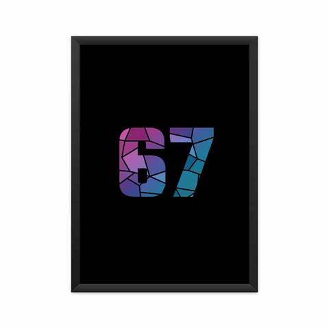 67 Number Framed Poster