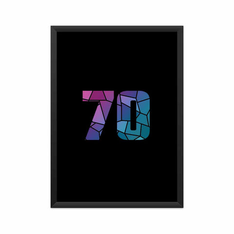 70 Number Framed Poster
