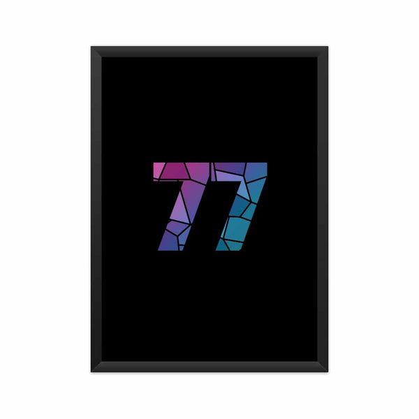 77 Number Framed Poster