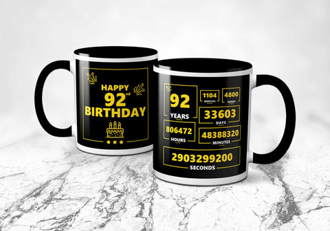 92nd Birthday Mug