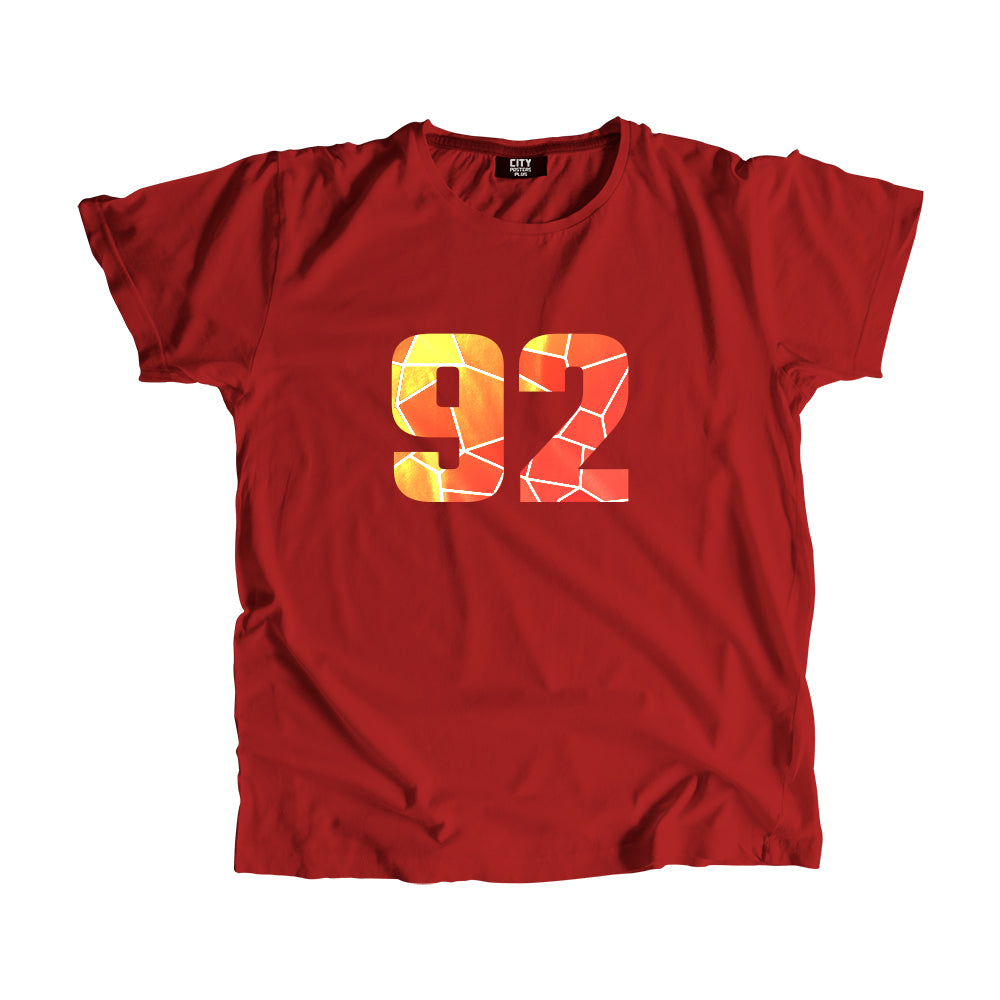 92 Number Men Women Unisex T-Shirt