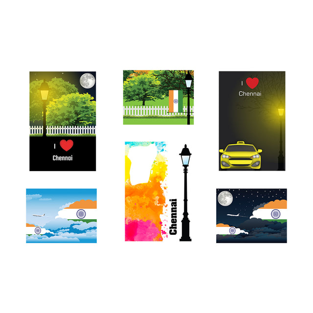 Chennai Posters Unframed (6 Sets)