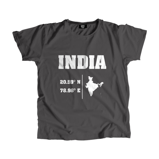 India Latitude Longitude Men Women Unisex T-Shirt