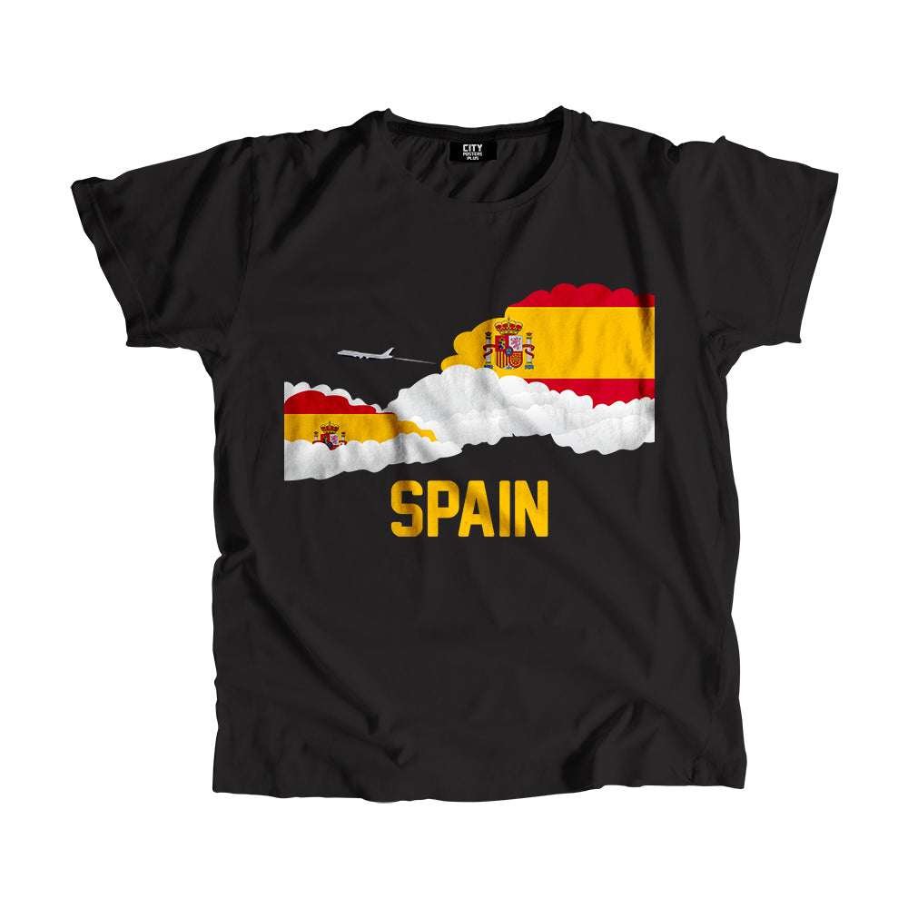 Spain Flags Clouds T-Shirt