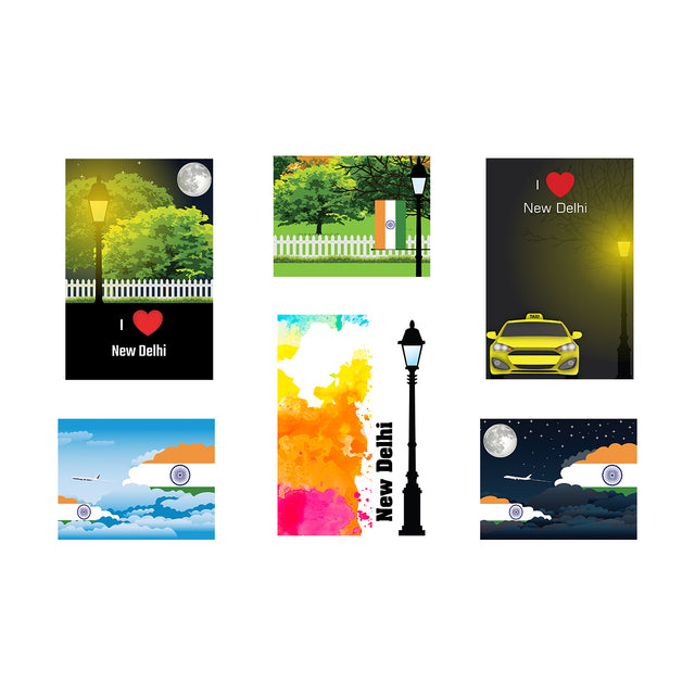 New Delhi Posters Unframed (6 Sets)