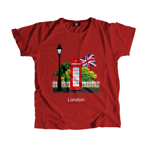 London Red Telephone Men Women Unisex T-Shirt