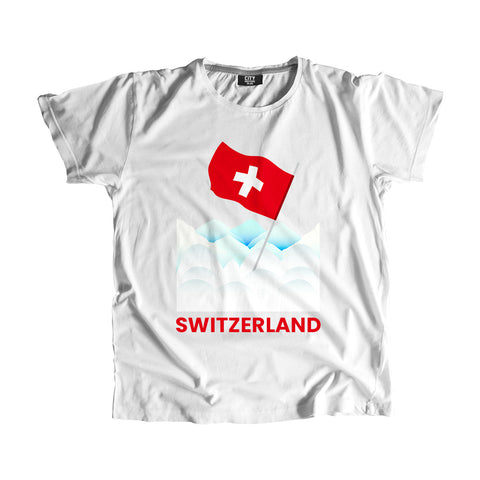 Switzerland Flag Snow T-Shirt