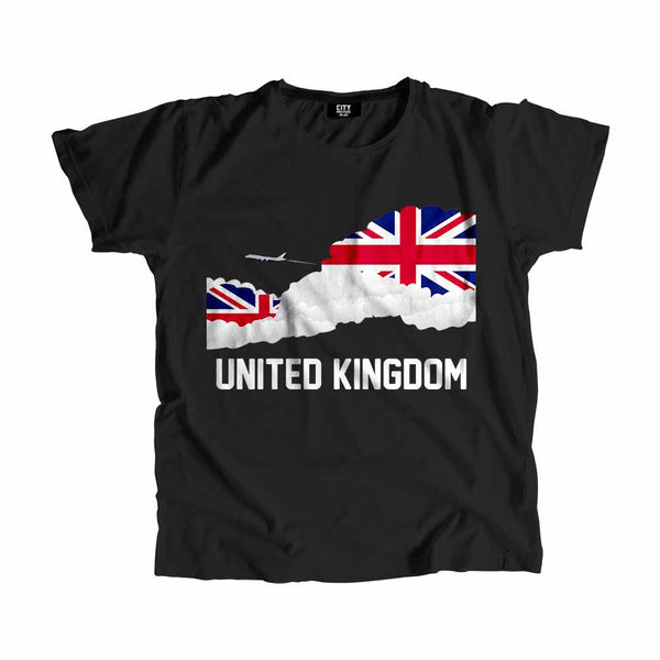 United Kingdom Flags Clouds T-Shirt