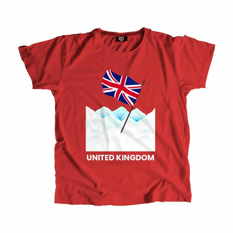 United Kingdom Flag Snow T-Shirt