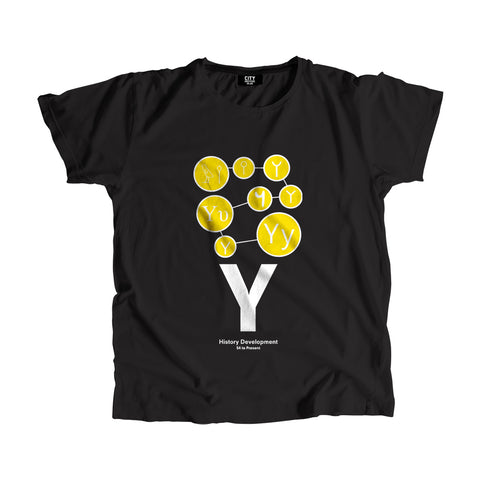 Y Letter History Development Men Women Unisex T-Shirt