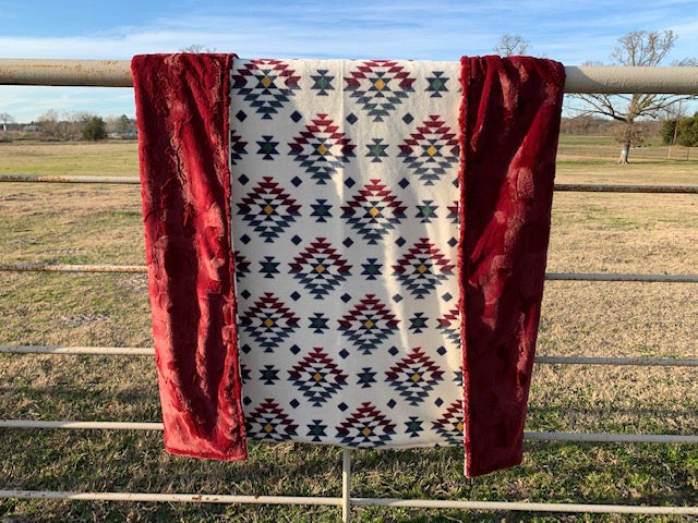Aztec Fleece Minky Blanket