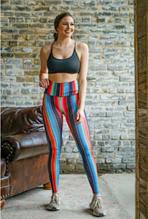 Black Serape Active Wear Leggings