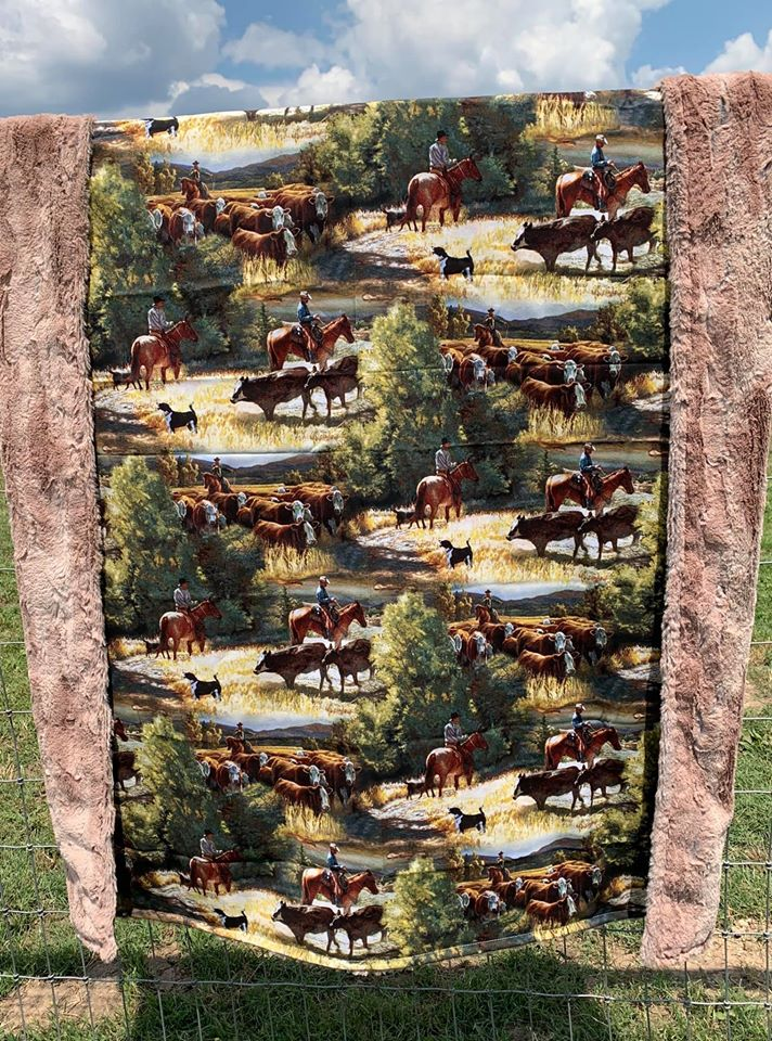 Workin' Cattle Blanket