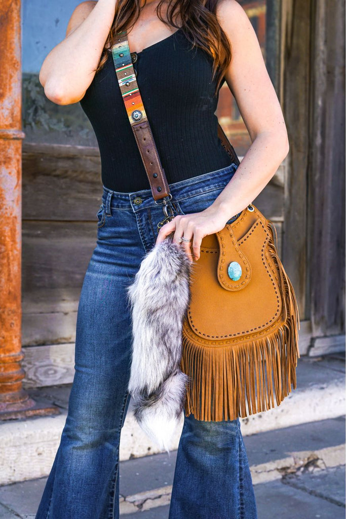 Large Fox Tail Key Chain