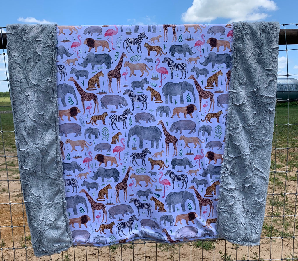 Take me to the Zoo Blanket