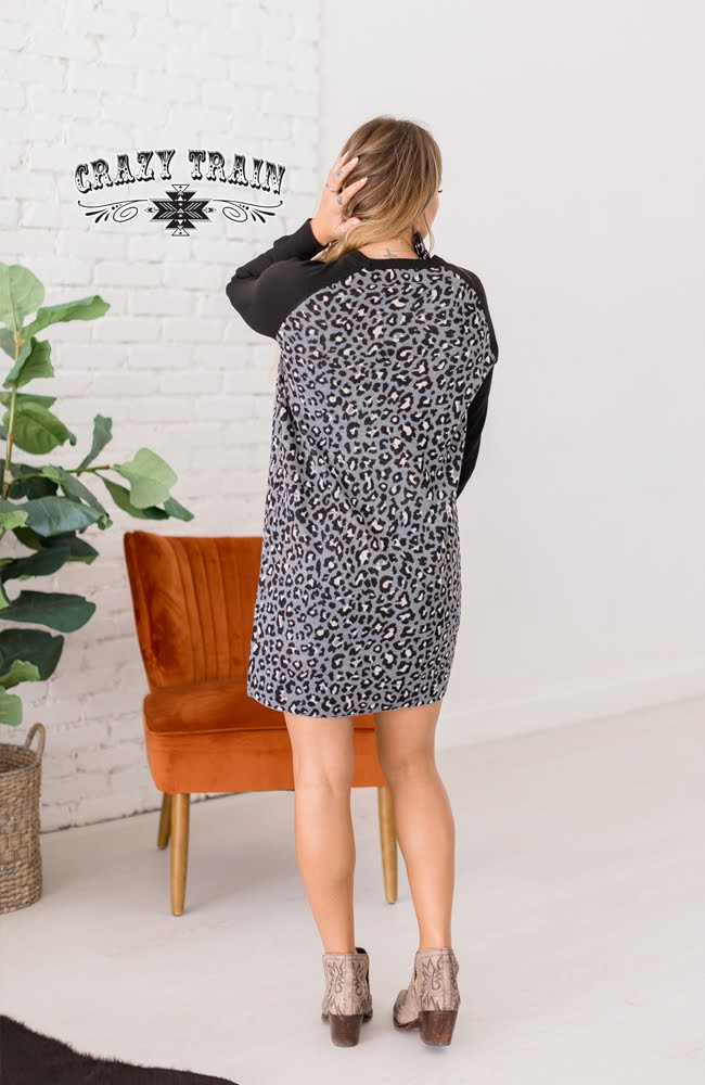 Monochrome Meow Dress