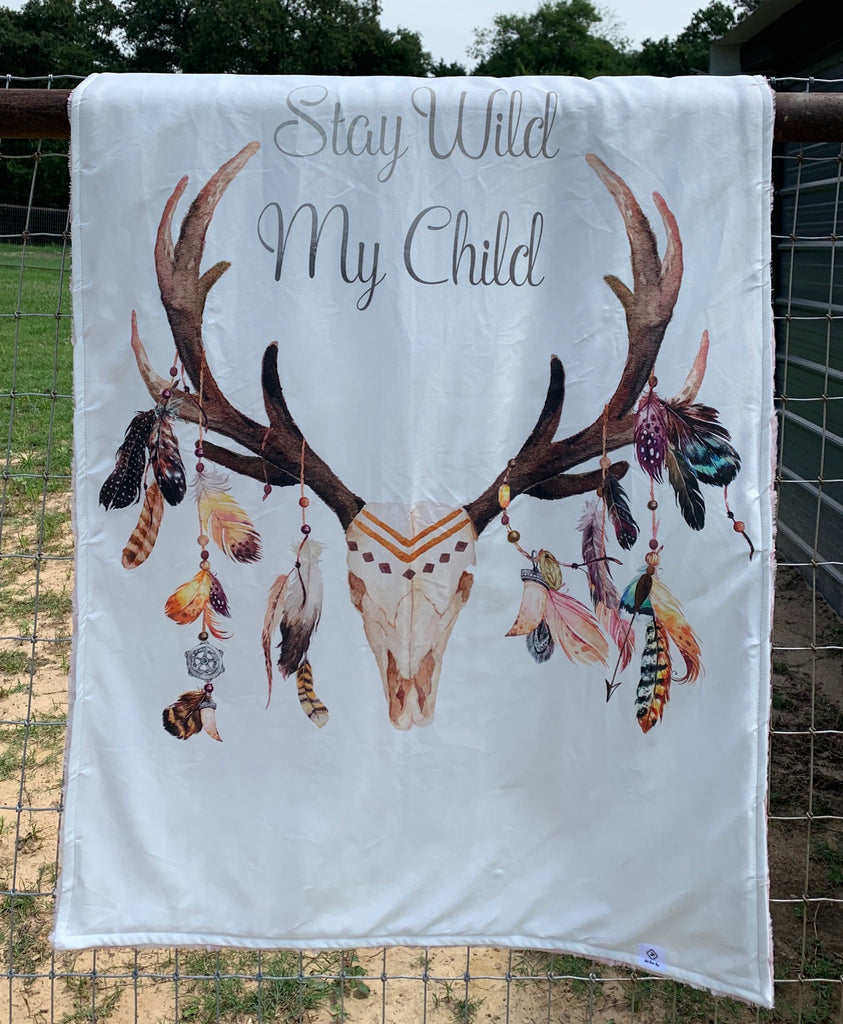 Stay Wild My Child Blanket