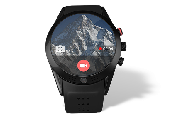 Arrow smartwatch with a 360° rotatable 1080P HD camera compatible with Android & iOS smartphones