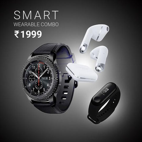 Gear X 4G Smart Watch + M3 SMART BAND + Illusion Wireless EarPods | 1 Yr Warranty