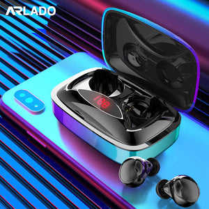 TWS X29 Gradient i7 Wireless Bluetooth 5.0 Earphones Portable Touch Control Earbuds with 2000mAh LED Power Display Sport Headset
