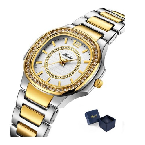 Geneva Luxury Diamond Quartz Gold Wrist Watch