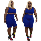Plus Size Sleeveless Top & Shorts Set