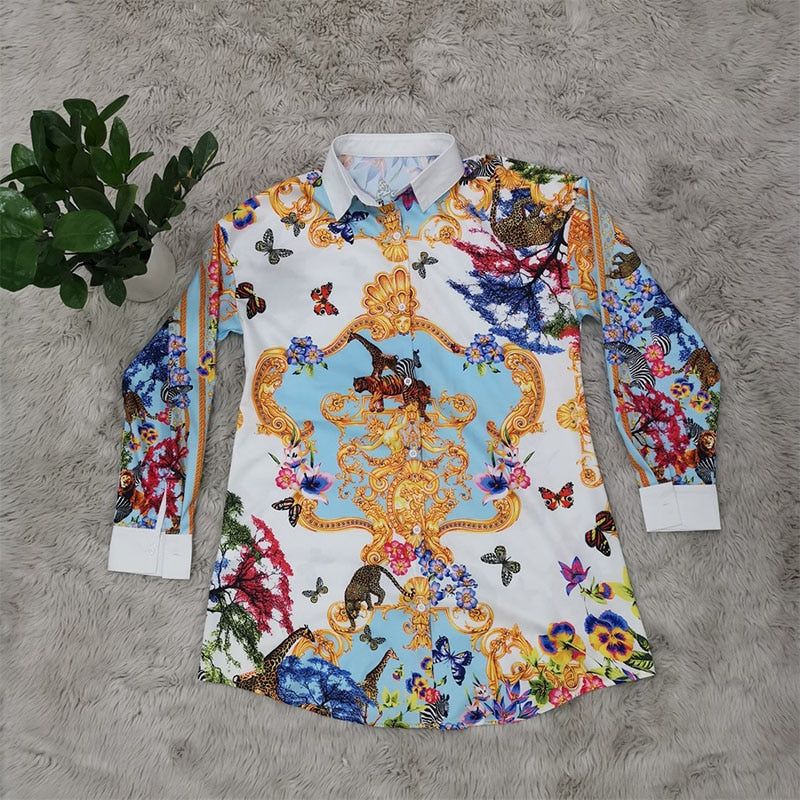 Elegant Printed Long Sleeve Shirt