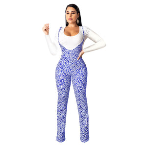 Casual Letter Print Long-sleeved Jumpsuit
