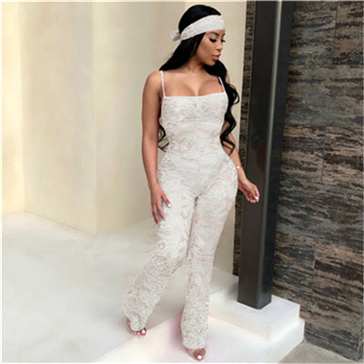 Lace Crochet Jumpsuit