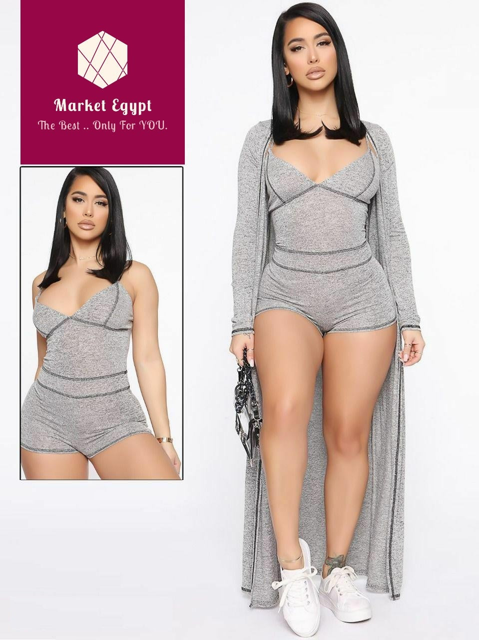 Grey Sexy Home Pajama