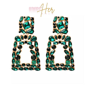 Her Milan Color Stone Earrings-Adore Her Sole