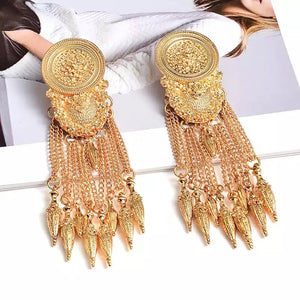 Tribal Queen Gold Earrings