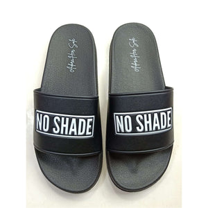"""No Shade""Black Statement Slides-Adore Her Sole"