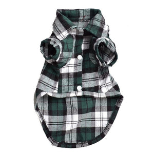 Classic Plaid Outfit For Cats