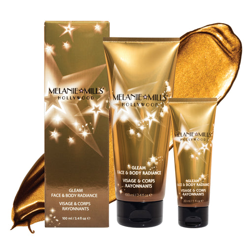 BRONZE GOLD Gleam Face & Body Radiance All In One Makeup, Moisturizer & Glow