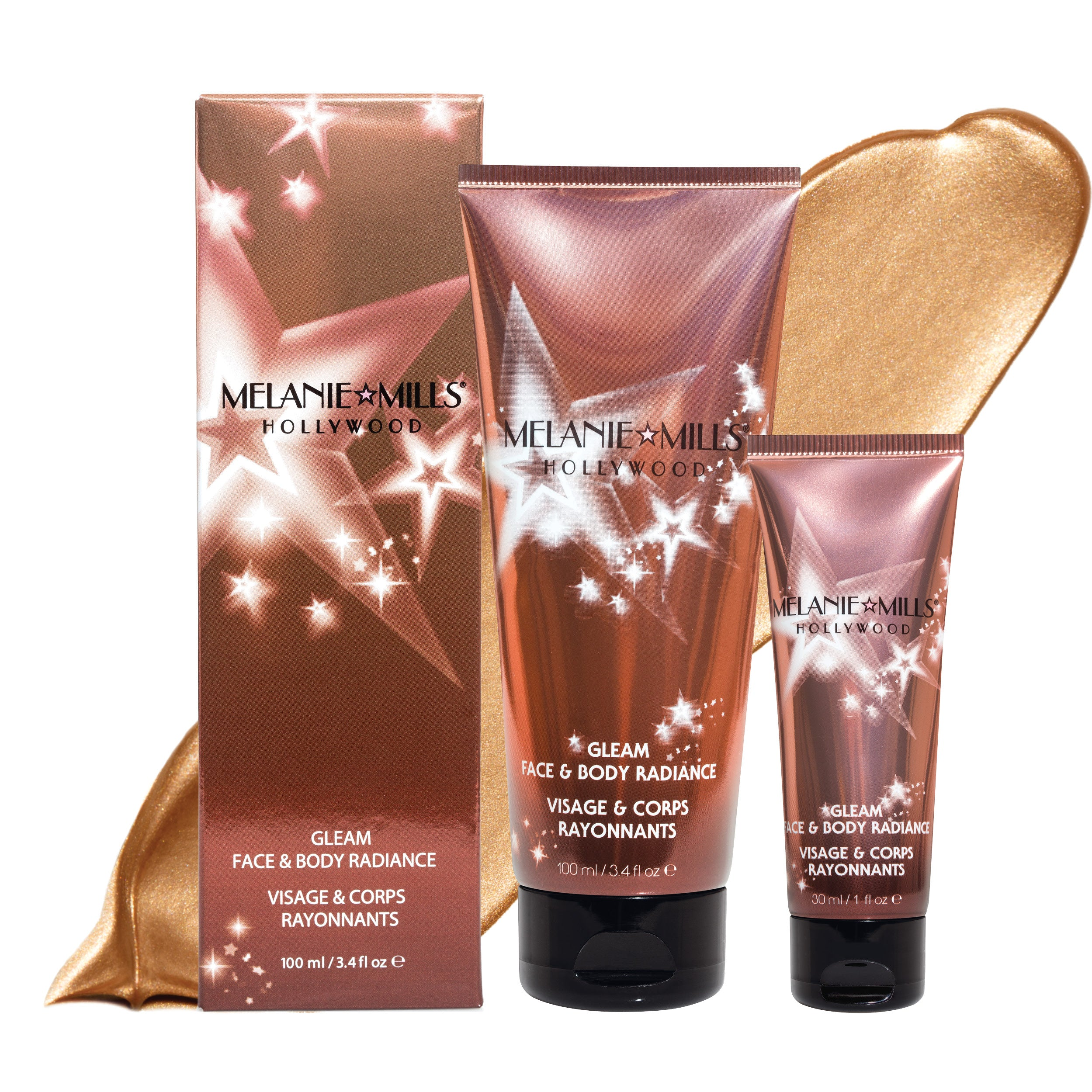PEACH DELUXE Gleam Face & Body Radiance All In One Makeup, Moisturizer & Glow