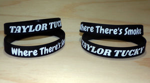"Taylor Tucky Official ""Where There's Smoke"" Tour Black Wrist Band"