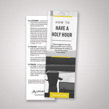 Load image into Gallery viewer, How to Have a Holy Hour Bookmark — (Pack of 50)