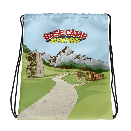 Base Camp Adventures Drawstring Bag