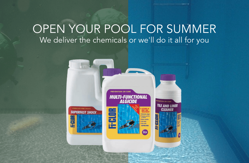 Open your pool for Summer or have us do it for you